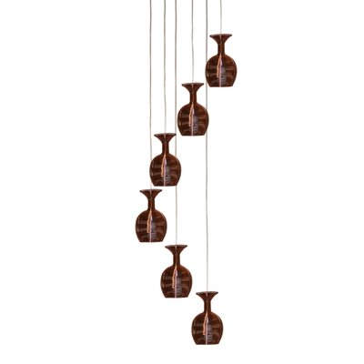 Itzel Metal 6-Light Cluster Pendant Shade Color: Coffee