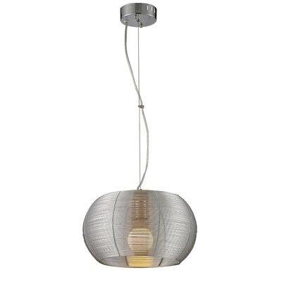 Jamarion Metal 1-Light Drum Pendant Shade Color: Silver