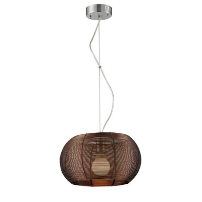 Jamarion Metal 1-Light Drum Pendant Shade Color: Coffee