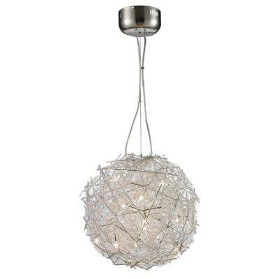 Shibata Metal 8-Light Globe Pendant Shade Color: Silver