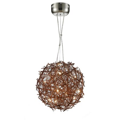 Shibata Metal 8-Light Globe Pendant Shade Color: Coffee