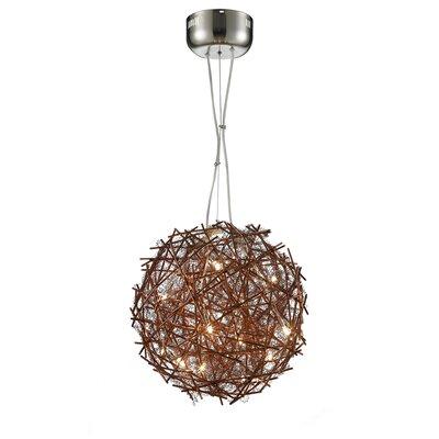 Shick Metal 15-Light Globe Pendant Shade Color: Coffee