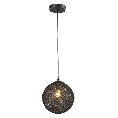 Petrucci 1-Light Mini Pendant Shade Color: Black
