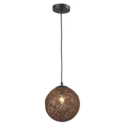 Petrucci 1-Light Mini Pendant Shade Color: Coffee