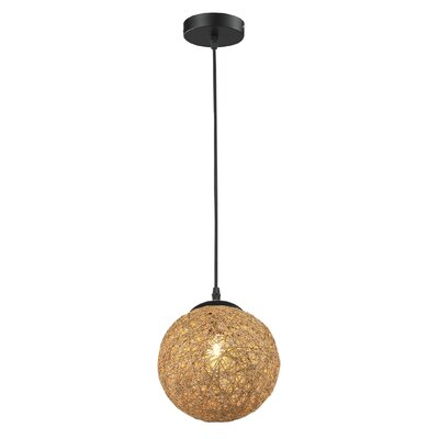 Petrucci 1-Light Mini Pendant Shade Color: Burlywood