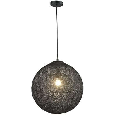 Petrus 1-Light Globe Pendant Shade Color: Black