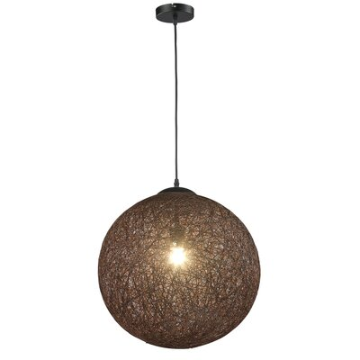 Petrus 1-Light Globe Pendant Shade Color: Coffee