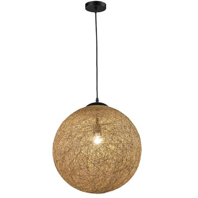 Petrus 1-Light Globe Pendant Shade Color: Burlywood
