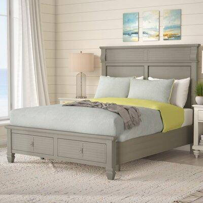 Vasilikos Antique Storage Platform Bed Size: King