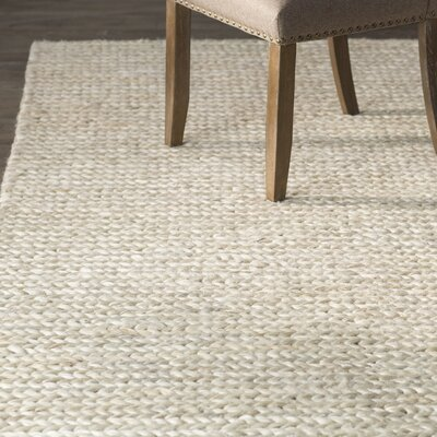 Pennsburg Fiber Hand-Woven Ivory Area Rug Rug Size: Rectangle 5 x 8