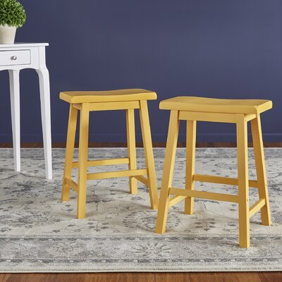 Sharman Counter Height 24 Bar Stool Finish: Yellow