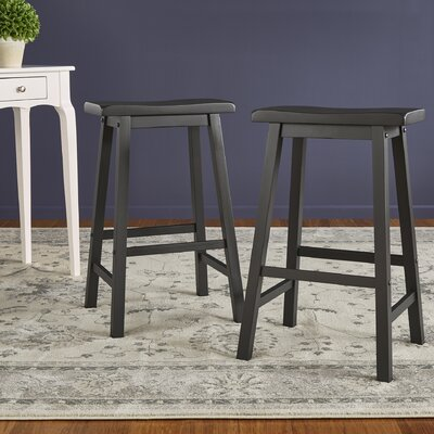 Sharman 29 Saddle Bar Stool Finish: Vulcan Black