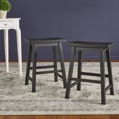 Sharman Counter Height 24 Bar Stool Finish: Black Sand Through