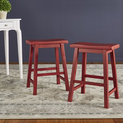 Sharman Counter Height 24 Bar Stool Finish: Red