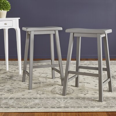 Sharman 29 Saddle Bar Stool Finish: Gray