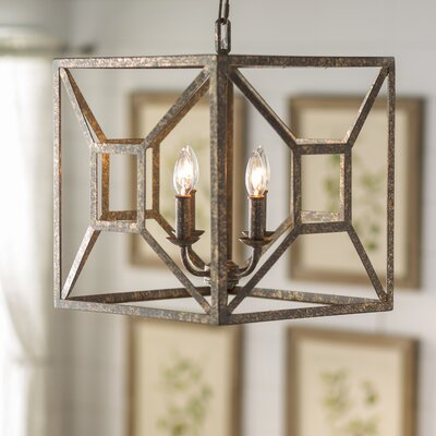 Jayanth 4-Light Candle-Style Chandelier Finish: Distressed Goldleaf