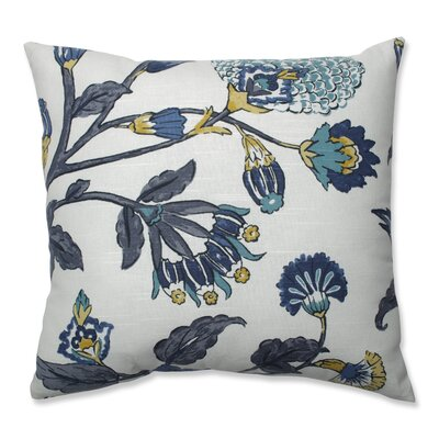 Haverstraw Auretta Peacock Throw Pillow Size: 18 x 18