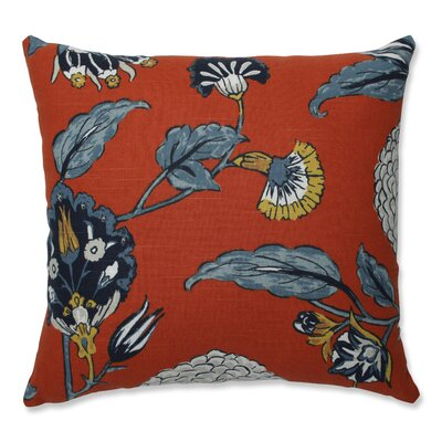 Septak Auretta Persimmon Throw Pillow Size: 16.5 x 16.5