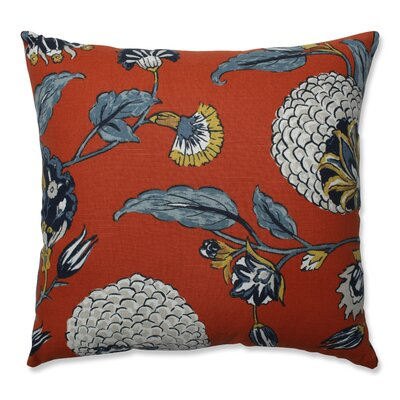 Septak Auretta Persimmon Throw Pillow Size: 18 x 18