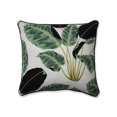 Biscay Hojas Cubanas Rainforest Throw Pillow Size: 18 x 18
