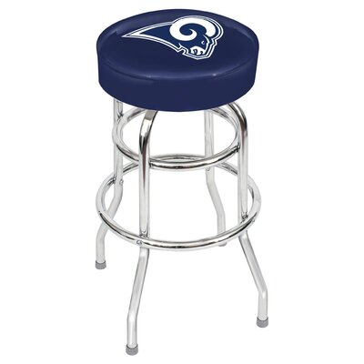 NFL Team 30 Bar Stool Upholstery: Blue, Team: Los Angeles Rams