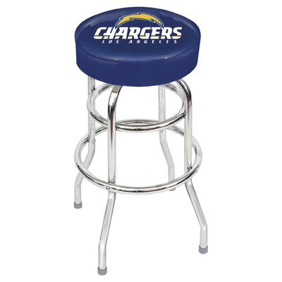 NFL Team 30 Bar Stool Upholstery: Blue, Team: San Diego Chargers