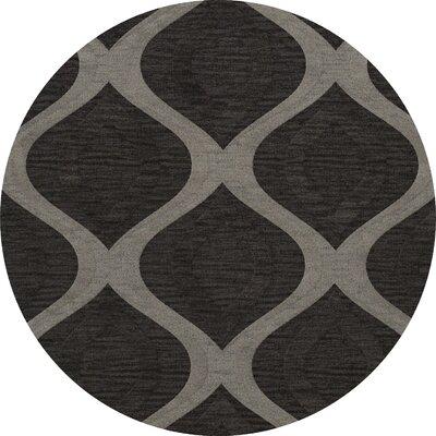 Sarahi Wool Metal Area Rug Rug Size: Round 6