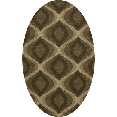 Estelle Wool Oasis Area Rug Rug Size: Oval 10 x 14