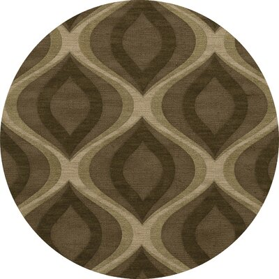 Estelle Wool Oasis Area Rug Rug Size: Round 12