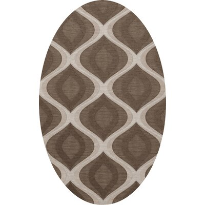 Kaidence Wool Pebble Area Rug Rug Size: Oval 9 x 12