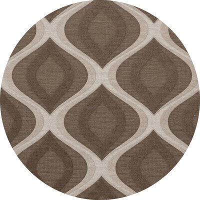 Kaidence Wool Pebble Area Rug Rug Size: Round 8