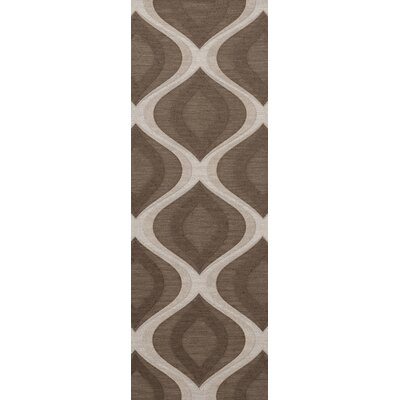 Kaidence Wool Pebble Area Rug Rug Size: Runner 26 x 8