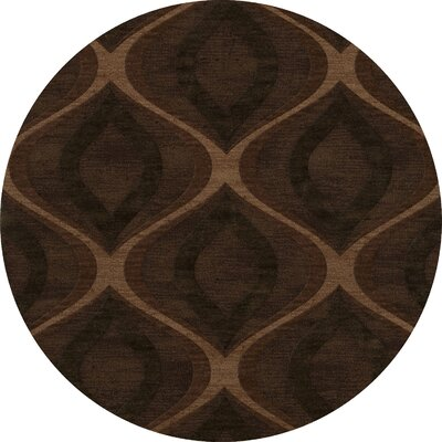 Sarahi Wool Pinecone Area Rug Rug Size: Round 12