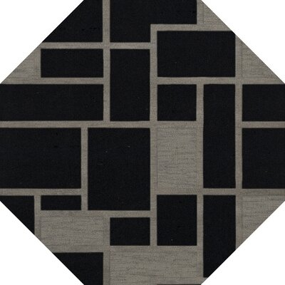 Haledon Wool Blackstone Area Rug Rug Size: Octagon 8