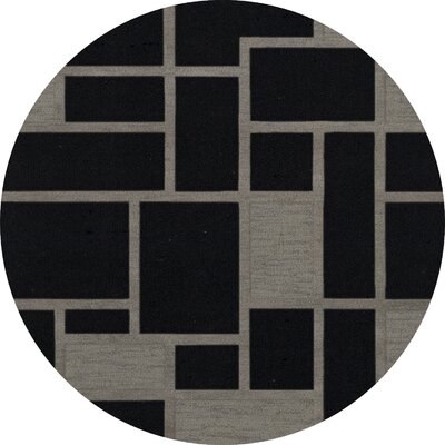 Haledon Wool Blackstone Area Rug Rug Size: Round 10