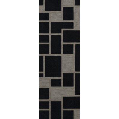 Haledon Wool Blackstone Area Rug Rug Size: Runner 26 x 12