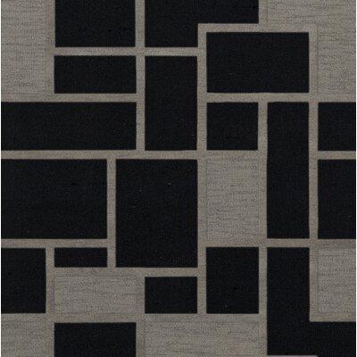 Haledon Wool Blackstone Area Rug Rug Size: Square 4