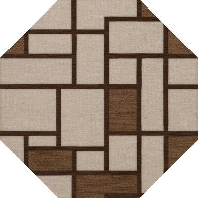 Halford Wool Earth Area Rug Rug Size: Octagon 6