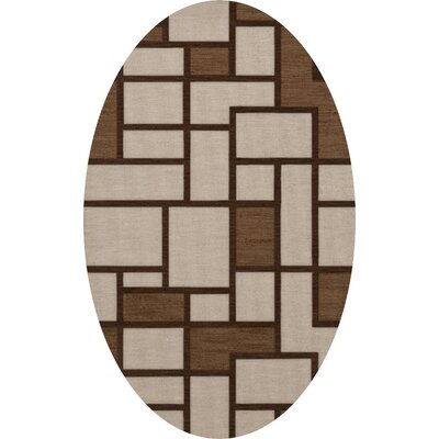 Halford Wool Earth Area Rug Rug Size: Oval 6 x 9