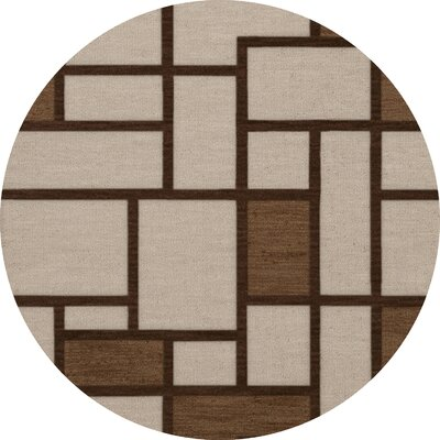 Halford Wool Earth Area Rug Rug Size: Round 4