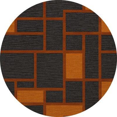 Halina Wool Fog Area Rug Rug Size: Round 6