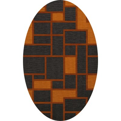 Halina Wool Fog Area Rug Rug Size: Oval 10 x 14
