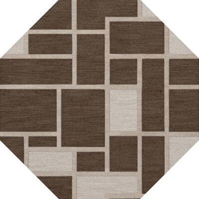 Hallberg Wool Saddle Area Rug Rug Size: Octagon 8