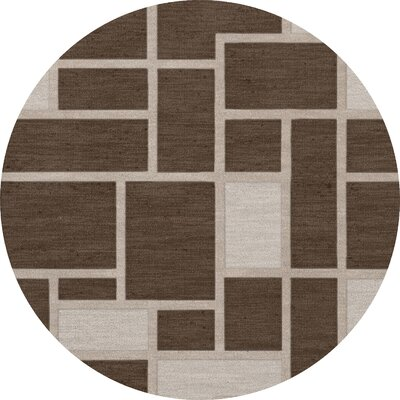 Hallberg Wool Saddle Area Rug Rug Size: Round 8