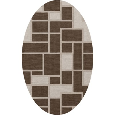 Hallberg Wool Saddle Area Rug Rug Size: Oval 12 x 18
