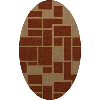 Hallenbeck Wool Wheat Area Rug Rug Size: Oval 6 x 9