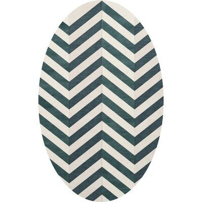 Stidham Wool Baltic Area Rug Rug Size: Oval 9 x 12