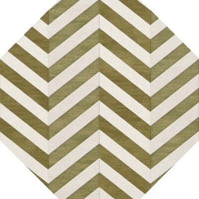 Shellenbarger Wool Herb/White Area Rug Rug Size: Octagon 8