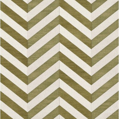 Shellenbarger Wool Herb/White Area Rug Rug Size: Square 12