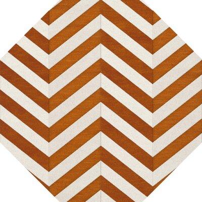 Shepler Wool Tangerine Area Rug Rug Size: Octagon 12